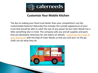 Customize Your Mobile Kitchen