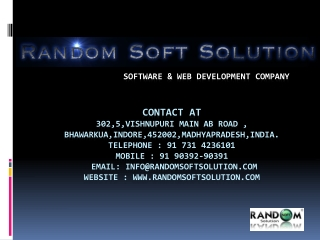 Software Development Company - Random Soft Solution