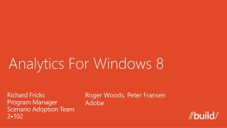 Analytics For Windows 8