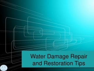 Water Damage Repair and Restoration Tips