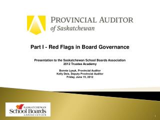Part I - Red Flags in Board Governance