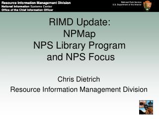 RIMD Update