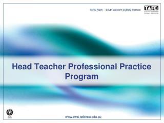 Head Teacher Professional Practice Program