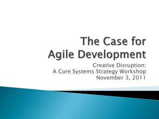 The Case for 