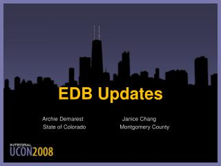 EDB Updates