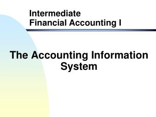 The Accounting Information System