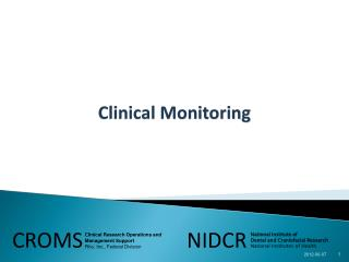 Clinical Monitoring