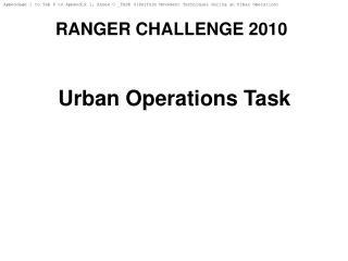 RANGER CHALLENGE 2010