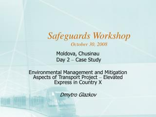 Safeguards Workshop