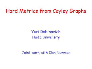 Hard Metrics from Cayley Graphs
