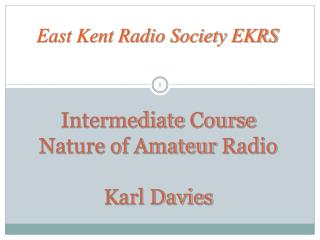 East Kent Radio Society EKRS