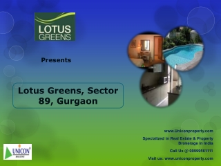 Lotus Greens Sector 89 Gurgaon (Call 9999561111)