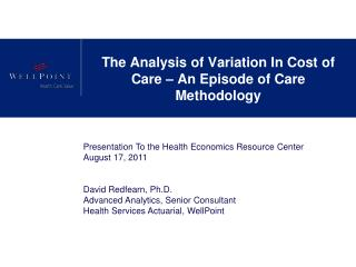 Physician Cost-Efficiency Methodology - Overview