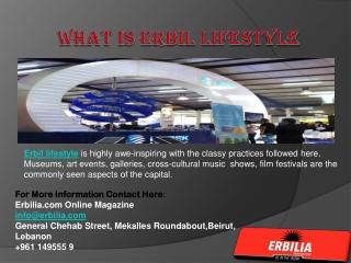 What is Erbil Lifestyle