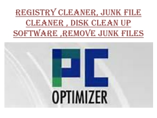 Registry cleaner|Junk file cleaner|Disk clean up software