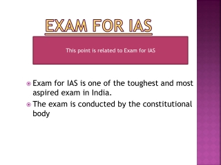 Important Points for preparation of exam for IAS