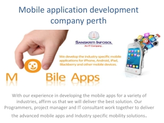 mobile application development company perth