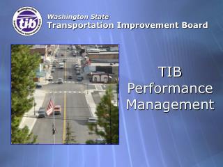 Washington State Transportation Improvement Board