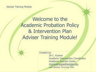 Adviser Training Module
