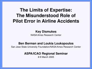 Most Airline Accidents Attributed to Crew Error