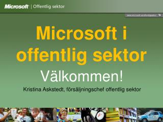 Microsoft i offentlig sektor