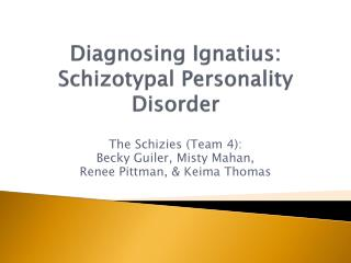 Schizotypal Personality Disorder (301.22)
