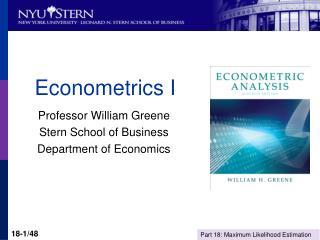 Econometrics I