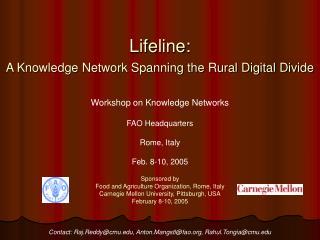 Lifeline: A Knowledge Network Spanning the Rural Digital Divide