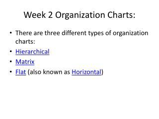 Week 2 Organization Charts: