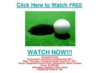 watch wyndham championship golf | pga tour live streaming on