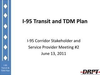 I-95 Transit and TDM Plan