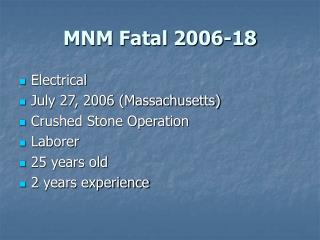 MNM Fatal 2006-18