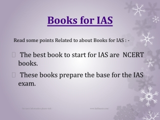 The best books for IAS