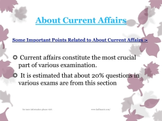 Latest news About Current Affairs