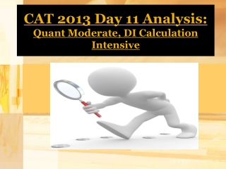 CAT 2013 Day 12 Analysis