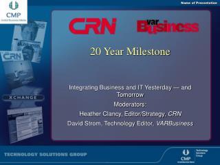 20 Year Milestone