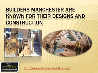 Building contractors Manchester