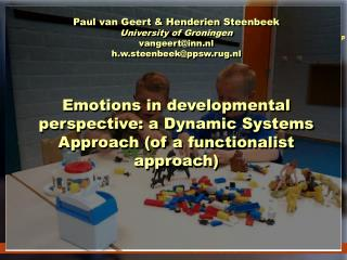 emotions and action in a developmental perspective