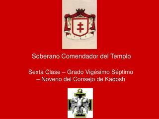 Soberano Comendador del Templo