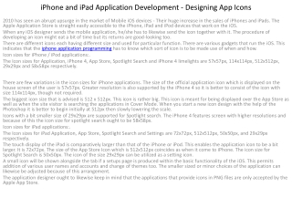 iPhone and iPad Application Development