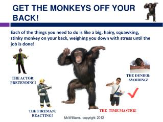 GET THE MONKEYS OFF YOUR BACK!