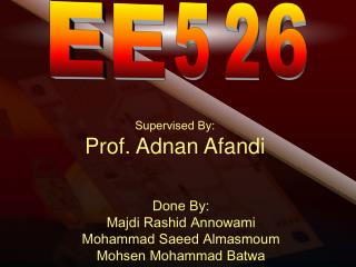 Supervised By: