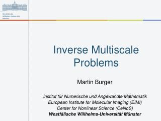 Inverse Multiscale Problems