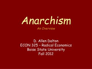 Anarchism