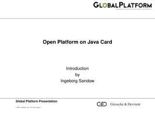 Open Platform on Java Card