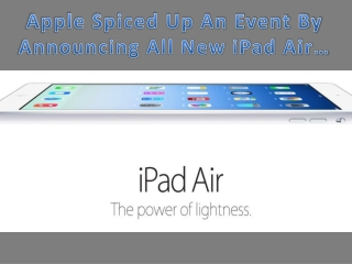New iPad Air.........