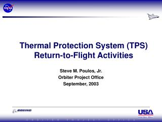 thermal protection system tps return-to-flight activities
