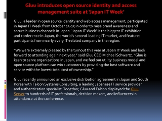 Gluu introduces open source identity and access management s