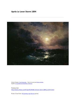 Après Le Lever Storm 1894-peinture à l'huile-Artisoo.com