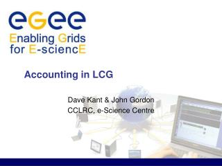 Accounting in LCG